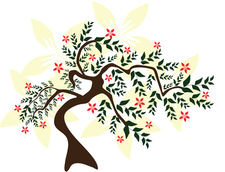 abstract floral tree, symbol of nature Stock Vector - 9029471