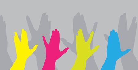 human hands gesture, symbol of diversity Vector