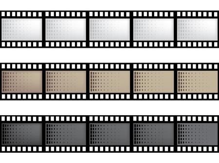 photo artistique: bande de film du vecteur avec espace pour votre texte ou image