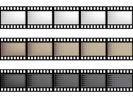 vector film strip with space for your text or image Vettoriali