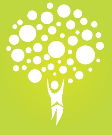 abstract human tree, symbol of nature Vector