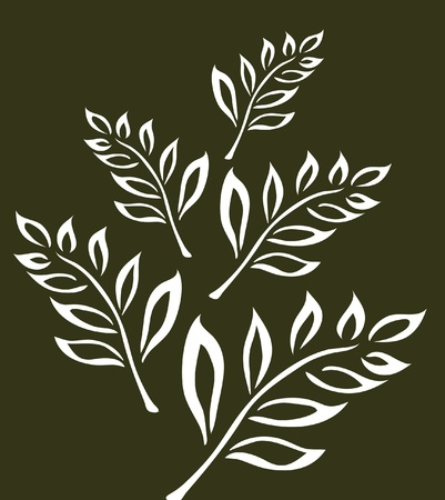 abstract tree branch, symbol of nature Vector