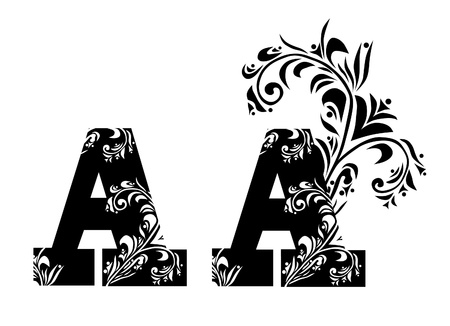 decorative letter A for your design Vector