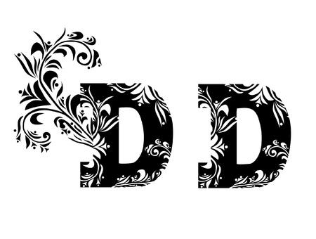 letter d: decorative letter D for your design Illustration