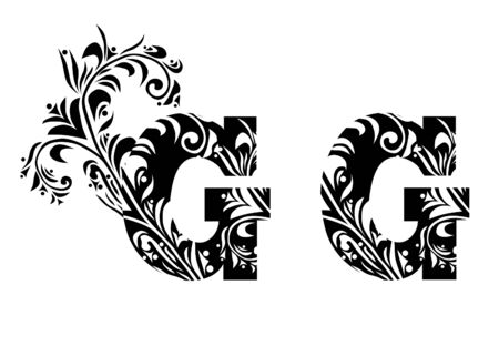 decorative letter G for your design Vector