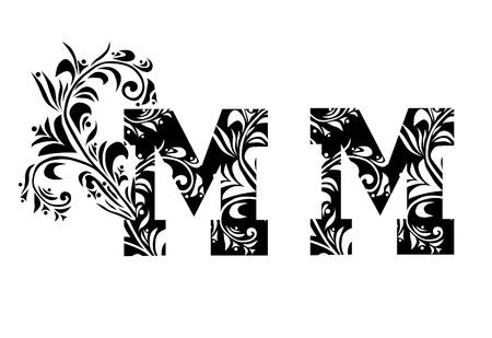 originales: decorativo letra m para el dise�o Vectores