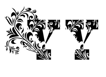 decorative letter Y for your design Stock Vector - 9640697