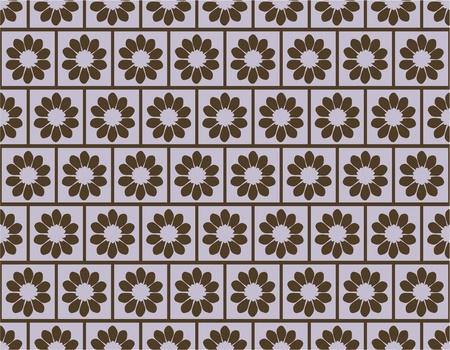 seamless pattern with abstract flowers for your background Vector