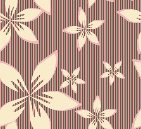 seamless pattern with pink flowers for your background