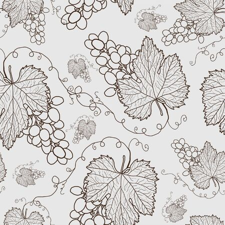 seamless pattern with grapes for your background Vector