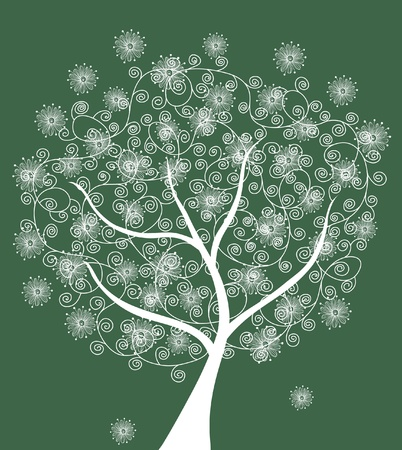 abstract decorative tree, symbol of nature Vector