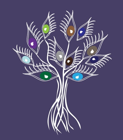 abstract eye tree, symbol of nature Vector