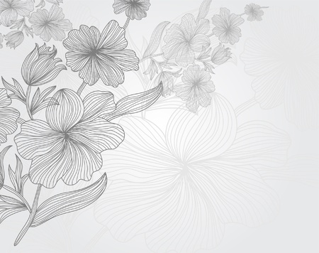 authentic: hand drawn floral invitation for life events with place for text