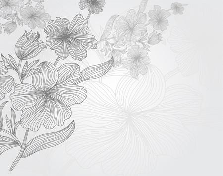 kézzel rajzolt virágos meghívó életesemények helyet a szöveges Illusztráció