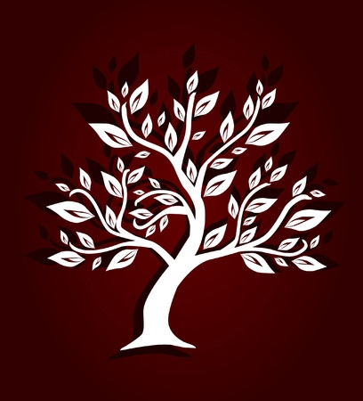 abstract artistic tree, symbol of nature