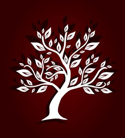 elvont művészi fa, jelképe a természet