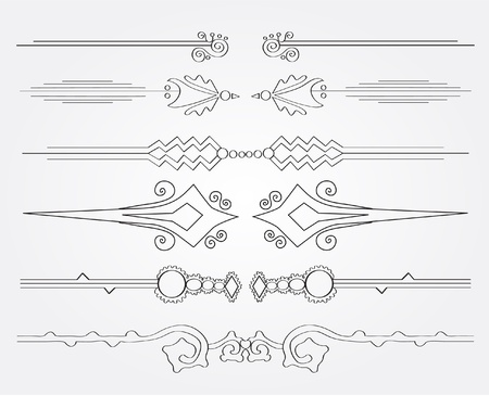 set of decorative page borders for your design Vector