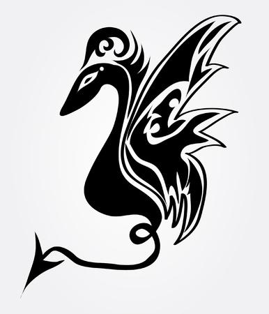 resumen de dragón, símbolo del año nuevo 2012 Ilustración de vector