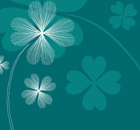 Hand gezeichnet floral Einladung für Ereignisse im Leben mit Platz für Text, in grün weißen Farben