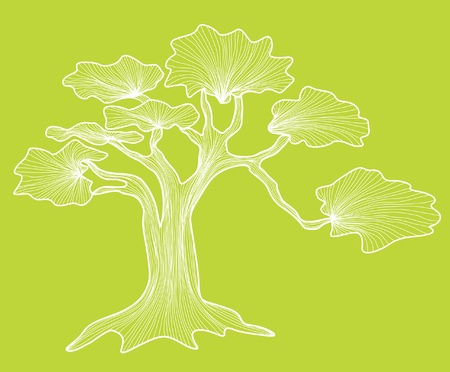 hand drawn abstract decorative tree for your design Vector