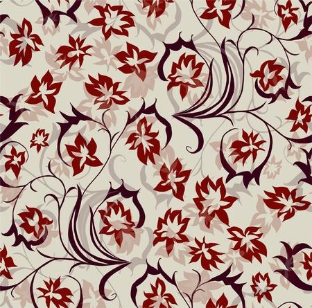 zökkenőmentes virágmintás piros lila színben