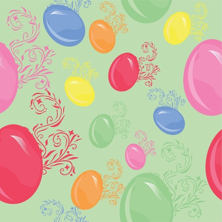 seamless pattern with multicolor easter eggs Stock Vector - 12352714