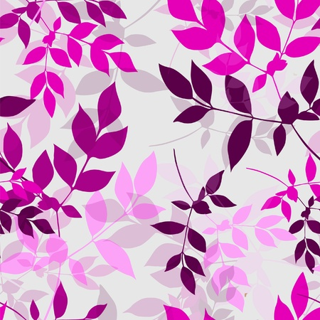 seamless floral pattern in soft violet colors for your design Vector