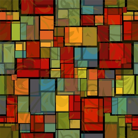 abstract seamless pattern with stained glass imitation Vector