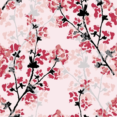 elegant seamless pattern with beautiful floral branch for your design