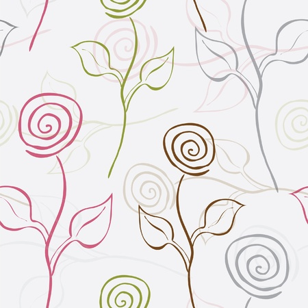 elegant seamless pattern with beautiful roses for your design