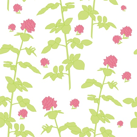 elegant seamless pattern with beautiful pink roses for your design Stock Vector - 12573920