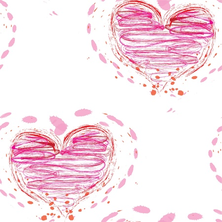 romantic seamless pattern with pink hearts for your design Stock Vector - 12773883