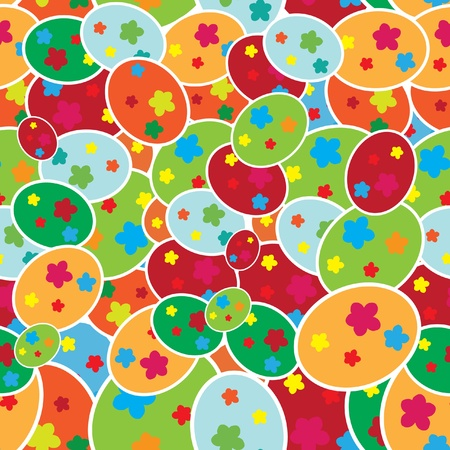 elegant seamless pattern with multicolor easter eggs for your design Stock Vector - 12809440