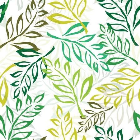 elegáns zökkenőmentes minta zöld levelek a design Illusztráció
