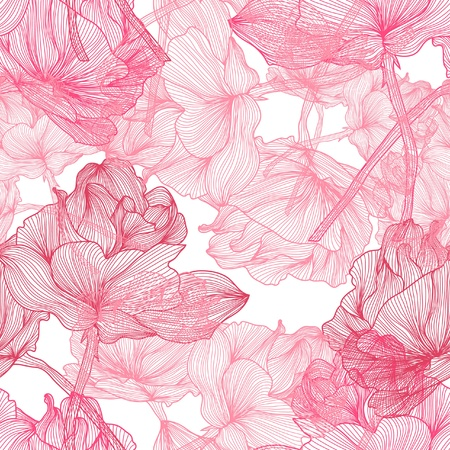repetition: elegant seamless pattern with beautiful pink roses for your design