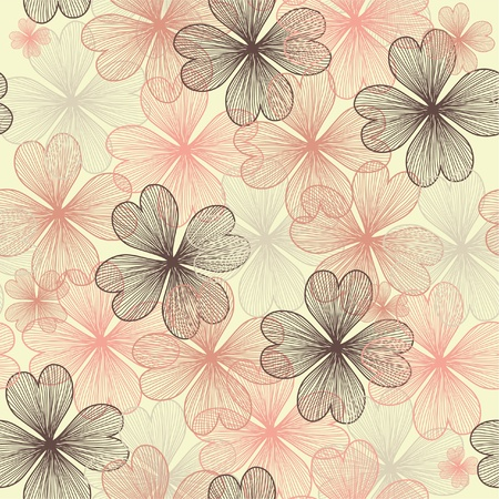 seamless pattern with abstract flowers for your design Illustration