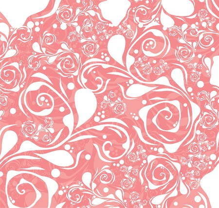 elegant seamless pattern with abstract ornament, in pink white colors, for your design Vector