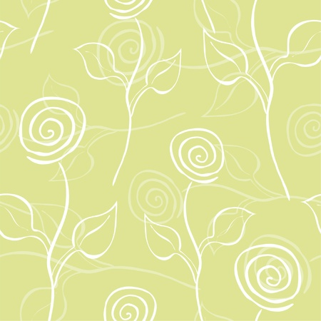 elegant seamless pattern in soft green white colors for your design