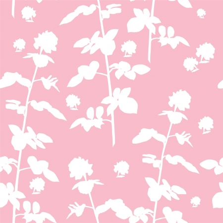 elegant seamless floral pattern in soft pink white colors for your design Illustration