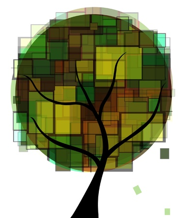 arbor: abstract green tree for your design