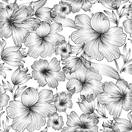 elegant seamless pattern with abstract flowers for your design Vector