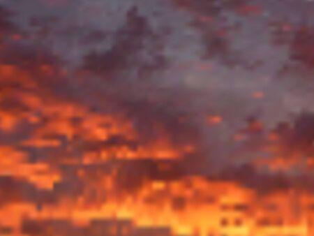 beautiful summer sunset sky,  background Vector