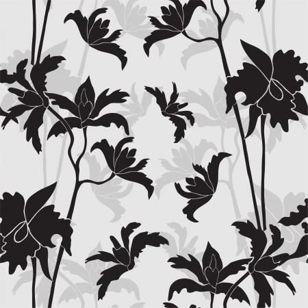 elegant seamless pattern with orchid flowers for your design Vector