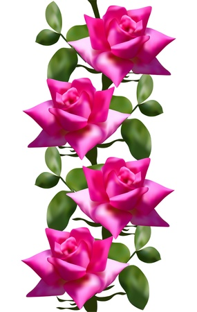 symmetry: elegant seamless pattern with pink roses for your design