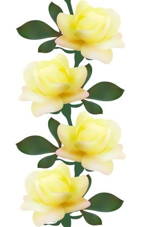 gele rozen: elegante naadloze patroon met gele rozen voor uw ontwerp