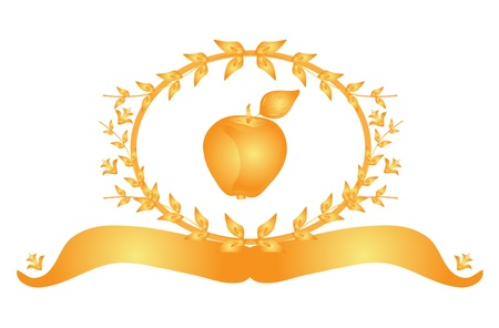 golden apple: golden apple banner, healthy food concept
