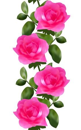 elegáns zökkenőmentes minta rózsaszín rózsa a design