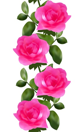 elegant seamless pattern with pink roses for your design Vector