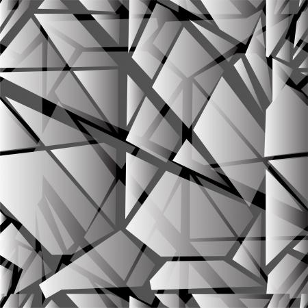 glass broken: resumen patr�n sin fisuras con imitaci�n cristales rotos para su dise�o Vectores