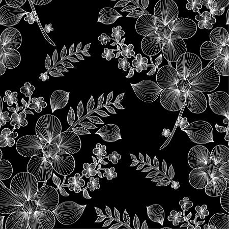 Elegáns varrat nélküli minta absztrakt virágok a design